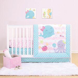Belle Sea Sweetie 4 Piece Crib Bedding Set