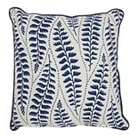 Mina Victory Life Styles Printed Leaves Blue Throw Pillow
