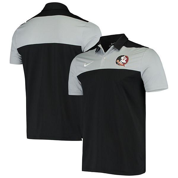 Men's Nike Black Florida State Seminoles Primary Logo Color Block Performance Polo