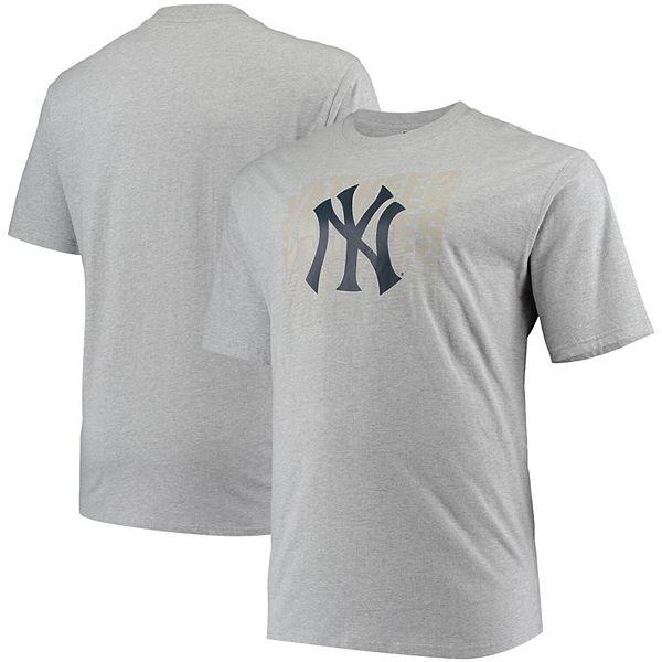 Men's Gray New York Yankees Big & Tall Open Opportunity Alternate T-Shirt