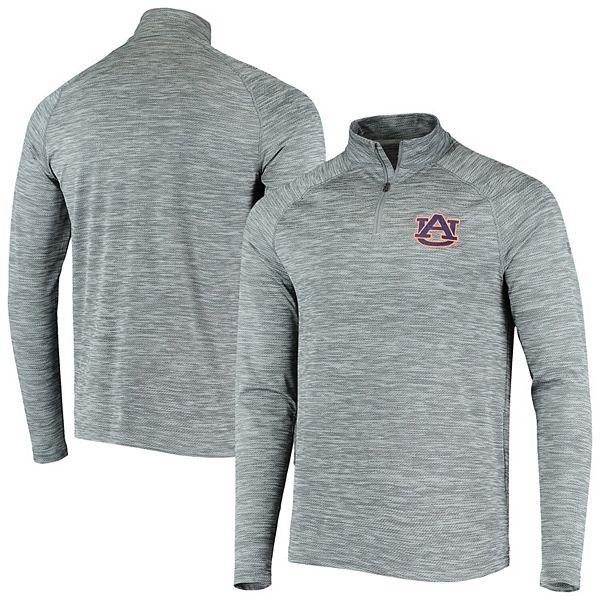 Men's Under Armour Gray Auburn Tigers Performance Quarter-Zip Pullover Jacket