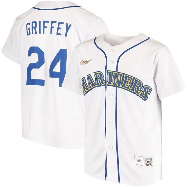 Youth Nike Ken Griffey Jr. White Seattle Mariners Home Cooperstown Collection Player Jersey