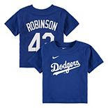Infant Nike Jackie Robinson Royal Los Angeles Dodgers Player Name & Number T-Shirt