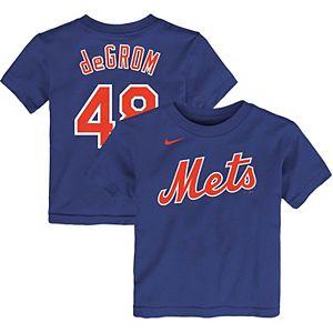 Toddler Nike Jacob deGrom Royal New York Mets Player Name & Number T-Shirt