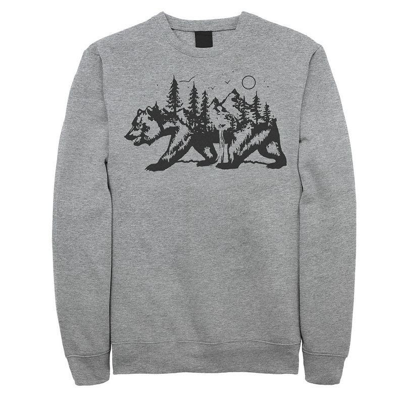 Juniors' Fifth Sun California Bear Landscape Fleece Sweatshirt. Girl's. Size: Small. Grey