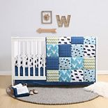 PS by The Peanutshell Emmett Patchwork 3 Piece Crib Bedding Set