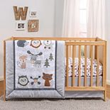 PS by The Peanutshell Woodland Walk 3 Piece Crib Bedding Set