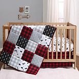 PS by The Peanutshell Buffalo Plaid 3 Piece Crib Bedding Set