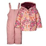 Baby Girl Carter's Floral Print Snowsuit