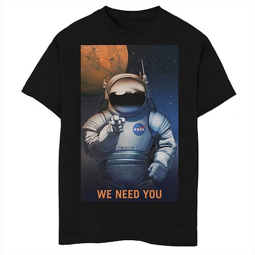Boys 8-20 NASA We Need You For Mars Recruiting Graphic Tee
