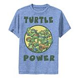 Boys 8-20 Graphic Teenage Mutant Ninja Turtles Group Shot Turtle Power Text Performance Graphic Tee