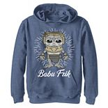 Boys 8-20 Star Wars: The Rise Of Skywalker Babu Frik Simple Cartoon Pullover Graphic Hoodie