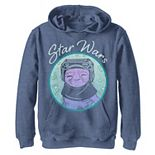 Boys 8-20 Star Wars: The Rise Of Skywalker Babu Frik Pastel Stars Pullover Graphic Hoodie