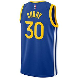 Men's Nike Stephen Curry Royal Golden State Warriors 2019/2020 Swingman Jersey - Icon Edition
