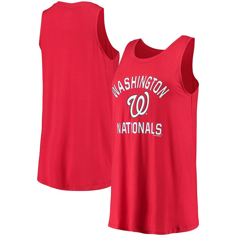 Women's New Era Red Washington Nationals Team Tank Top, Size: Small