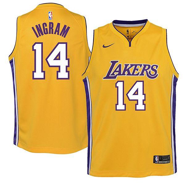 Youth Nike Brandon Ingram Yellow Los Angeles Lakers Swingman ...