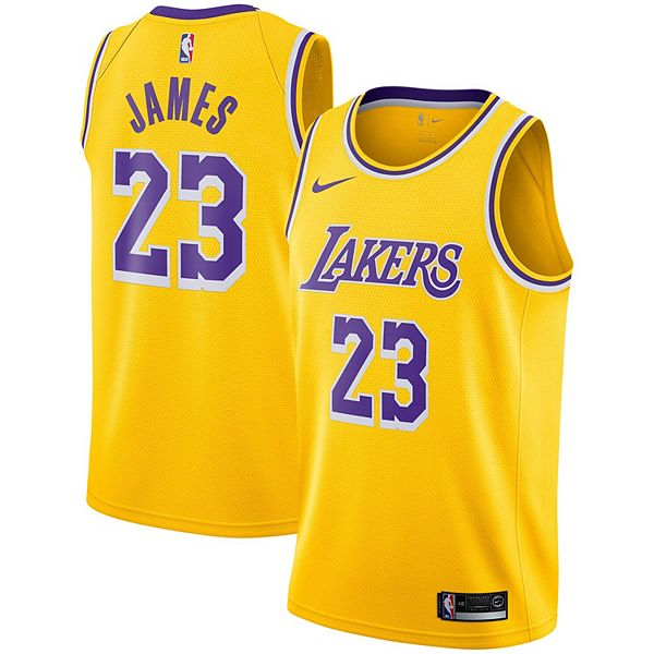 Youth Nike LeBron James Gold Los Angeles Lakers 2018/19 Swingman Jersey - Icon Edition