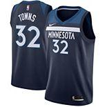 Men's Nike Karl-Anthony Towns Navy Minnesota Timberwolves Swingman Jersey - Icon Edition