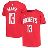 Youth James Harden Red Houston Rockets Icon Player Name & Number T-Shirt