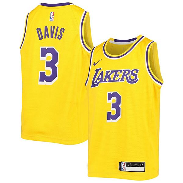 Youth Nike Anthony Davis Gold Los Angeles Lakers Swingman Jersey - Icon Edition
