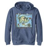 Disney's Peter Pan Boys 8-20 Never Land Map Vintage Poster Graphic Hoodie