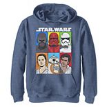 Boys 8-20 Star Wars The Rise of Skywalker Character Grid Pullover Graphic Hoodie