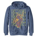 Boys 8-20 Star Wars Retro Ewok Big Fleece Pullover Graphic Hoodie