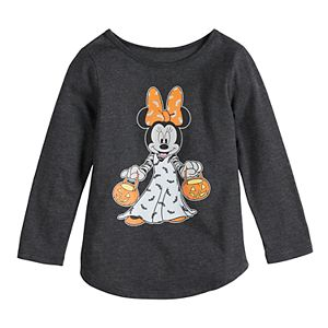 Disney's Minnie Mouse Toddler Girl Pumpkin Halloween Graphic Tee by Family Fun?