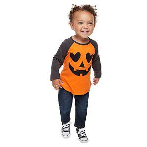 Toddler Girl Family Fun? Jack-o'-lantern Halloween Graphic Tee
