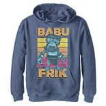 Boys 8-20 Star Wars The Rise Of Skywalker Babu Frik Pop Art Portrait Pullover Graphic Hoodie