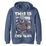 Boys 8-20 Star Wars The Mandalorian This Is The Way Portrait Pullover Graphic Hoodie