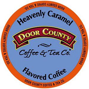 Door County Coffee & Tea Co. Heavenly Caramel Specialty Single-Serve Coffee Pods, Medium Roast, 10 Count