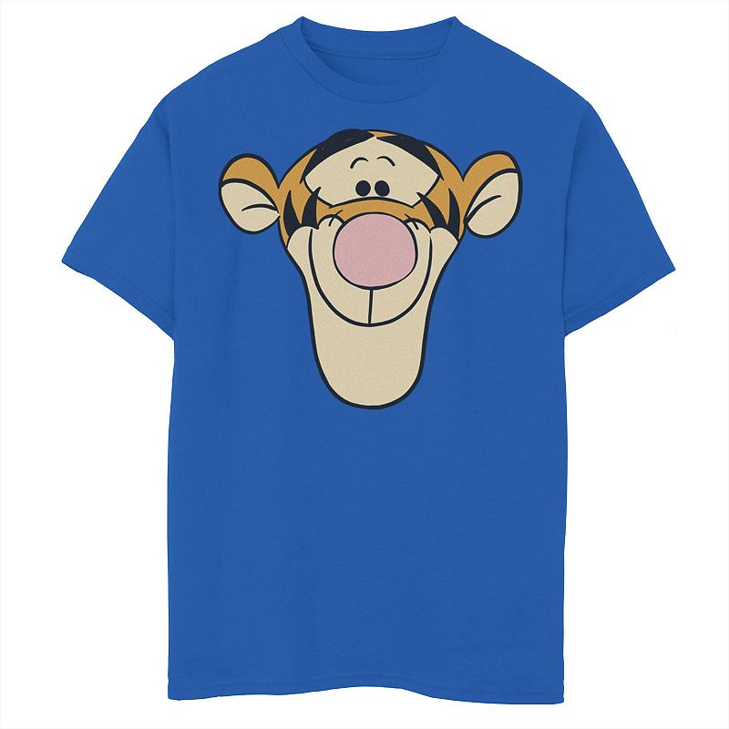 Disney's Winnie The Pooh Boys 8-20 Tigger Large Face Graphic Tee. Boy's. Size: XS. Med Blue