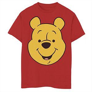 Disney's Winnie The Pooh Boys 8-20 Pooh Bear Large Face Graphic Tee