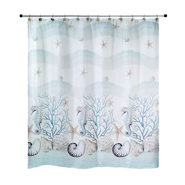 Avanti Coastal Terrazzo Shower Curtain, Avanti Shower Curtain