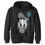 Disney's Donald Duck Boys 8-20 Varsity Letter Face Pullover Graphic Hoodie