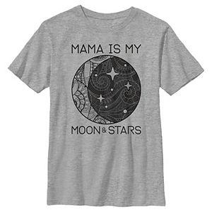 Boys 8-20 Mama Is My Moon & Stars Mother's Day Boho Graphic Tee