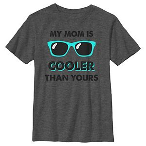 Boys 8-20 My Mom is Cooler Teal Shades Mother's Day Graphic Tee