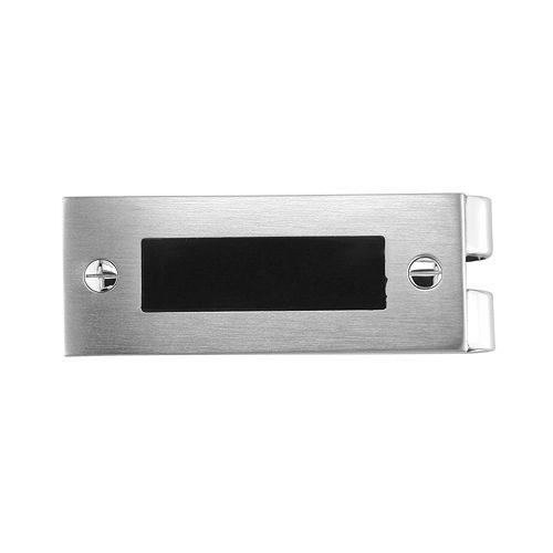 LYNX Stainless Steel Black Resin Money Clip