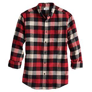 Men's Croft & Barrow® Woven Flannel Button-Down Shirt
