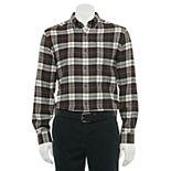 Men's Croft & Barrow® Extra-Soft Woven Flannel Button-Down Shirt