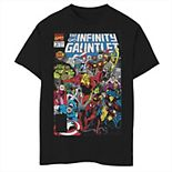 Boys 8-20 Marvel D23 Exclusive Vintage Infinity Gauntlet Comic Cover Graphic Tee