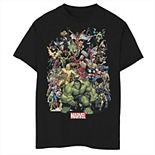 Boys 8-20 Marvel D23 Exclusive Franchise Superhero Collage Graphic Tee