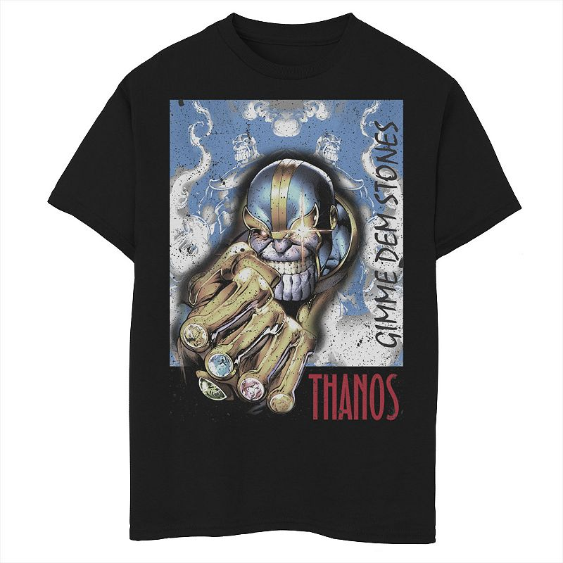 Boys 8-20 Marvel Thanos Homage Poster Graphic Tee. Boy's. Size: Small. Black