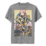 Boys 8-20 Marvel D23 Exclusive Action Pose Collage Poster Performance Graphic Tee