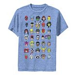 Boys 8-20 Marvel Comics Character Heads Performance Graphic Tee