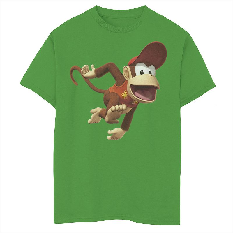 Boys 8-20 Nintendo Diddy Smash Graphic Tee Graphic Tee, Boy's, Size: Large, Green