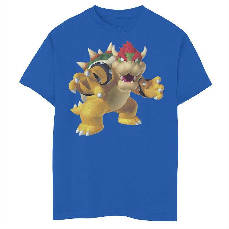 Boys 8-20 Nintendo Bowser Smash Graphic Tee Graphic Tee, Boy's, Size: XS, Blue