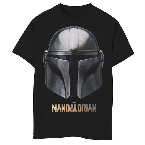Boys 8 20 Boys Star Wars Mandalorian Helmet Graphic Tee