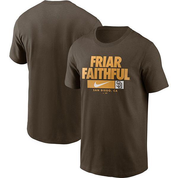 Men's Nike Brown San Diego Padres Local Nickname Performance T-Shirt
